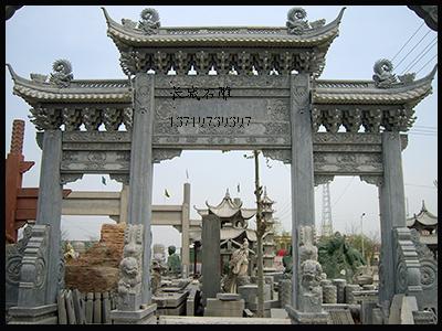 古建斗拱石牌坊