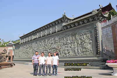 寺院浮雕照壁_浮雕观音壁画