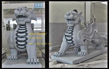 石雕貔貅拥有汉代大气浑厚雕刻风格
