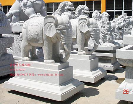 石雕大象在所有雕刻作品中具有极高地位