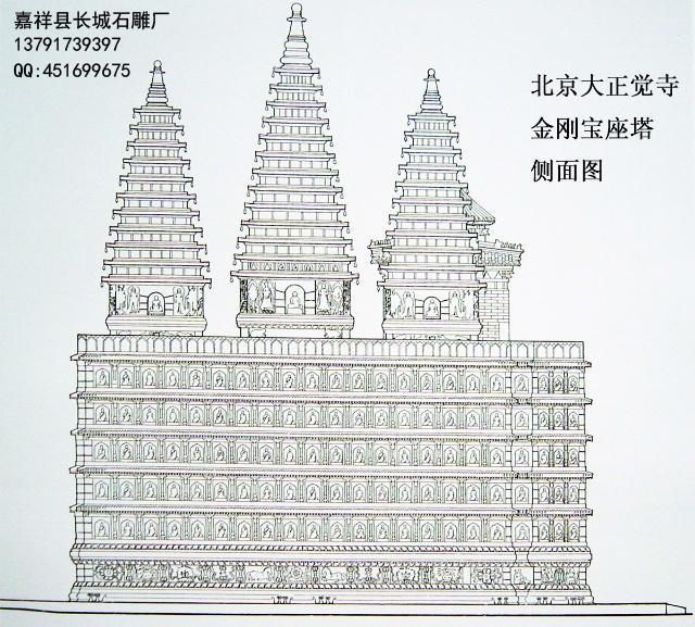 佛塔身上龛内的佛像外,多采用浅浮雕技法,近观内容丰富,远望又保持了宝塔的完整造型,使宝塔成为一座大型的佛教艺术雕刻品。