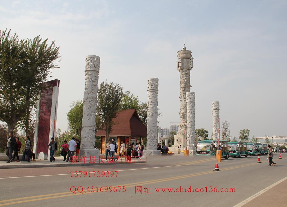 龙柱石雕,石雕文化柱