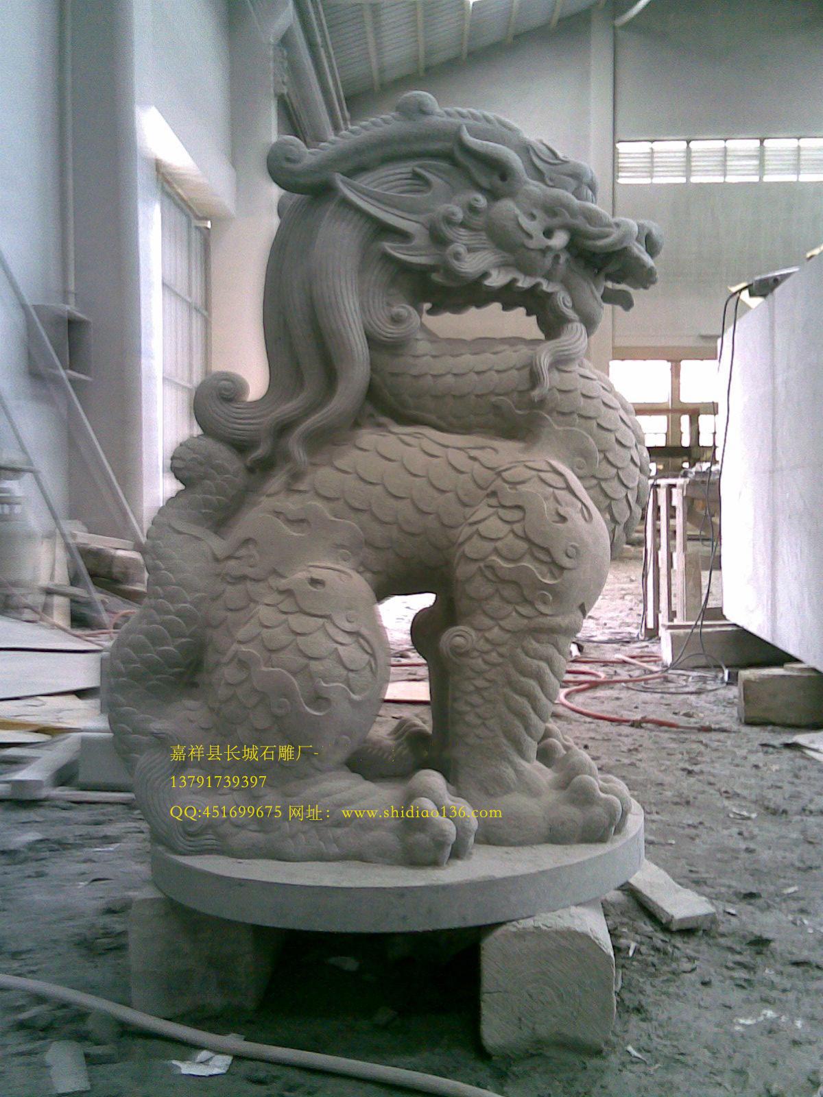 独角兽石雕