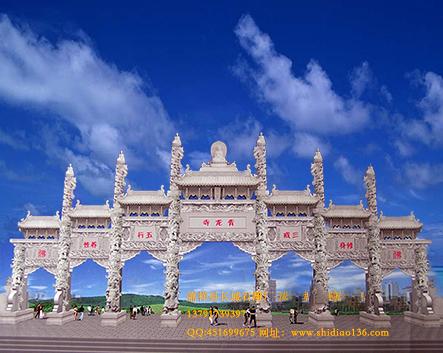 建造一座寺院山门或牌楼价格是多少