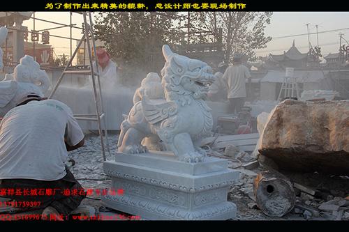 天青石汉白玉貔貅石雕材质如何选择呢