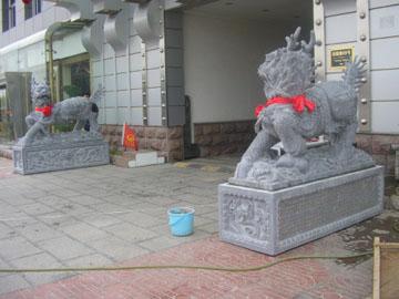 商业中心为何经常看见石雕麒麟