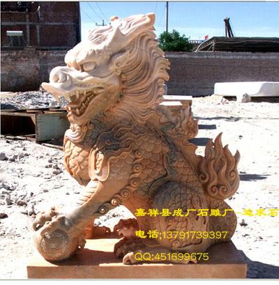 火麒麟石雕中华文化的精华所在