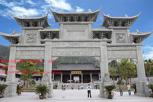 寺院石牌楼|感悟寺院山门长久的艺术生命力