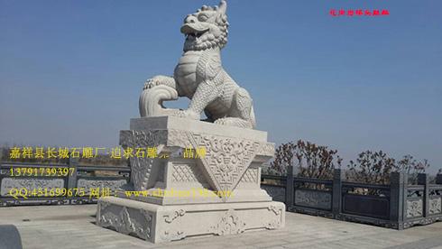 古朴的石雕麒麟和石狮子的文化区别