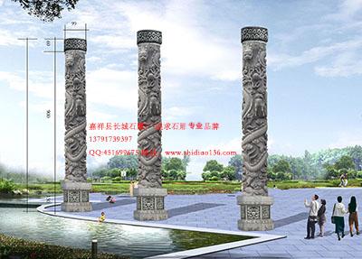 什么石雕龙柱规格可以是商场景观的摆放的