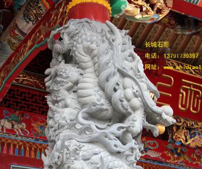 龙柱石雕图片的作用主要是什么