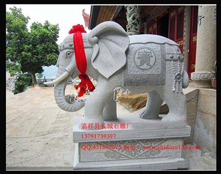 和瑞吉祥的大象石雕摆放学问
