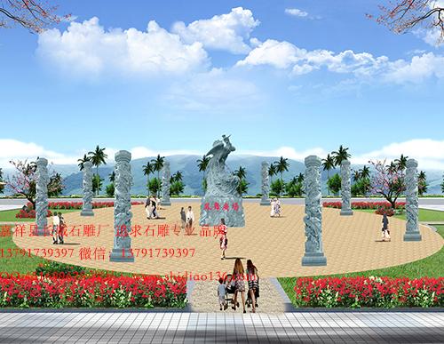 廣場文化柱石雕圖騰柱龍柱制作