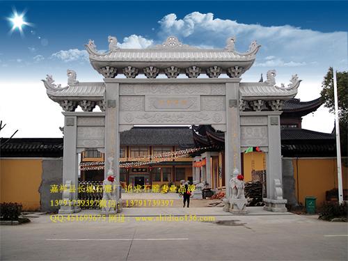 佛教山门牌坊__寺院石牌楼寄寓更多佛教文化