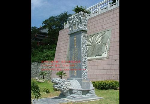 石碑雕刻现代寺院中的精品之作