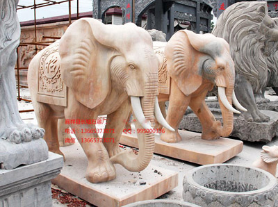 酒店摆放石雕大象应该注意哪些问题