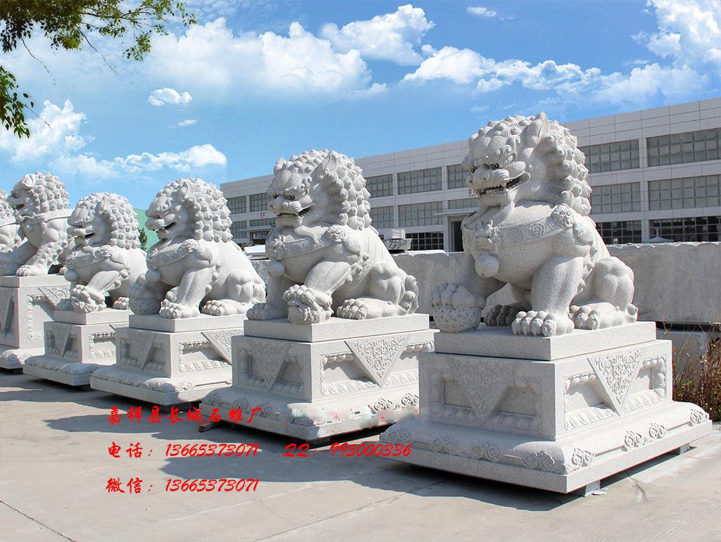 花岗岩石雕狮子效果图