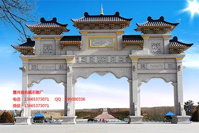 寺院石雕山门的特色